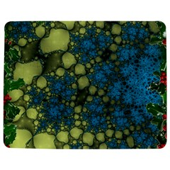 Holly Frame With Stone Fractal Background Jigsaw Puzzle Photo Stand (Rectangular)