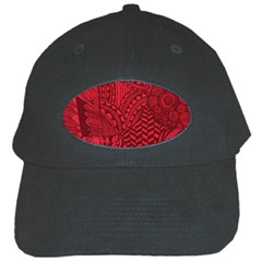 Deep Red Background Abstract Black Cap