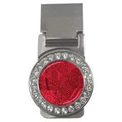 Deep Red Background Abstract Money Clips (cz)