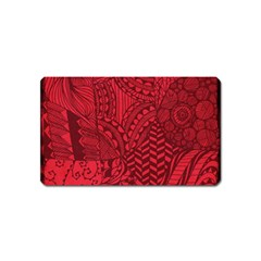 Deep Red Background Abstract Magnet (Name Card)