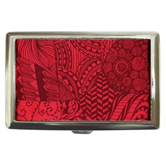 Deep Red Background Abstract Cigarette Money Cases