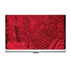 Deep Red Background Abstract Business Card Holders