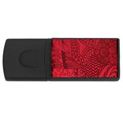 Deep Red Background Abstract USB Flash Drive Rectangular (2 GB)