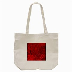 Deep Red Background Abstract Tote Bag (cream)
