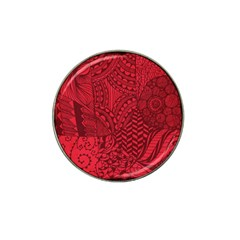 Deep Red Background Abstract Hat Clip Ball Marker