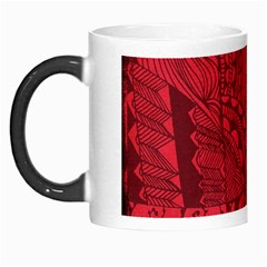 Deep Red Background Abstract Morph Mugs