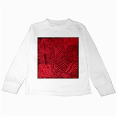 Deep Red Background Abstract Kids Long Sleeve T-Shirts