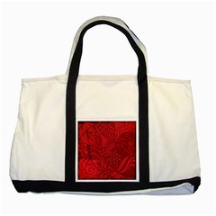 Deep Red Background Abstract Two Tone Tote Bag