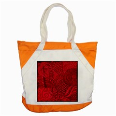 Deep Red Background Abstract Accent Tote Bag