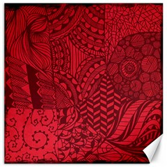 Deep Red Background Abstract Canvas 16  X 16