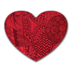 Deep Red Background Abstract Heart Mousepads