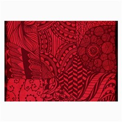 Deep Red Background Abstract Large Glasses Cloth