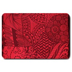 Deep Red Background Abstract Large Doormat