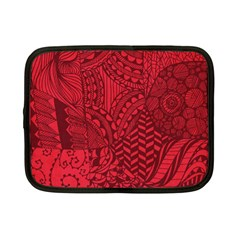 Deep Red Background Abstract Netbook Case (small)