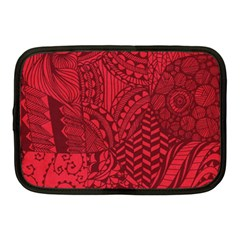 Deep Red Background Abstract Netbook Case (medium)