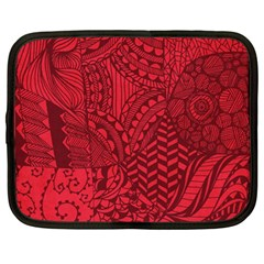Deep Red Background Abstract Netbook Case (large)