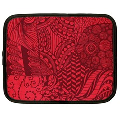 Deep Red Background Abstract Netbook Case (xl)