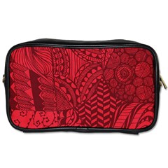 Deep Red Background Abstract Toiletries Bags 2 Side