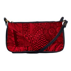 Deep Red Background Abstract Shoulder Clutch Bags