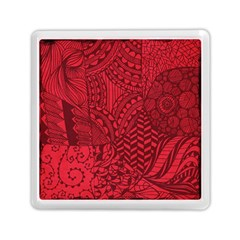 Deep Red Background Abstract Memory Card Reader (square)