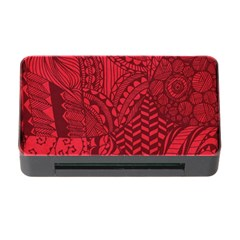 Deep Red Background Abstract Memory Card Reader with CF