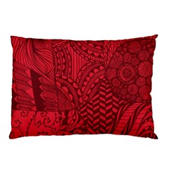Deep Red Background Abstract Pillow Case (two Sides)