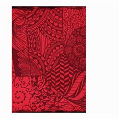Deep Red Background Abstract Small Garden Flag (two Sides)