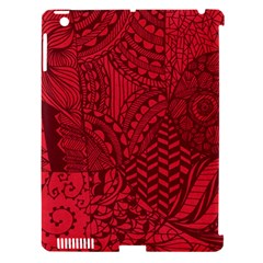 Deep Red Background Abstract Apple Ipad 3/4 Hardshell Case (compatible With Smart Cover)