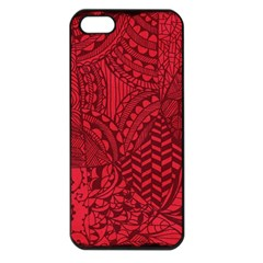 Deep Red Background Abstract Apple Iphone 5 Seamless Case (black)