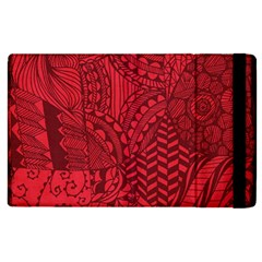 Deep Red Background Abstract Apple iPad 3/4 Flip Case