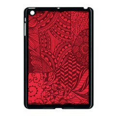 Deep Red Background Abstract Apple iPad Mini Case (Black)