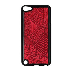 Deep Red Background Abstract Apple iPod Touch 5 Case (Black)