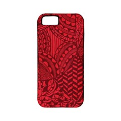 Deep Red Background Abstract Apple iPhone 5 Classic Hardshell Case (PC+Silicone)