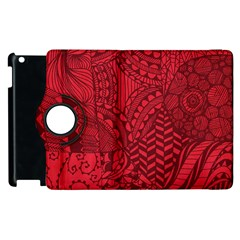 Deep Red Background Abstract Apple iPad 3/4 Flip 360 Case