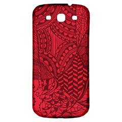 Deep Red Background Abstract Samsung Galaxy S3 S III Classic Hardshell Back Case