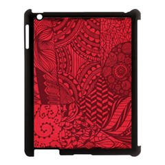 Deep Red Background Abstract Apple iPad 3/4 Case (Black)
