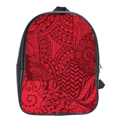 Deep Red Background Abstract School Bags (xl)