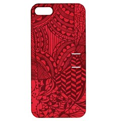 Deep Red Background Abstract Apple iPhone 5 Hardshell Case with Stand