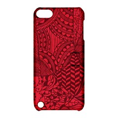 Deep Red Background Abstract Apple iPod Touch 5 Hardshell Case with Stand