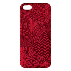 Deep Red Background Abstract Apple Iphone 5 Premium Hardshell Case