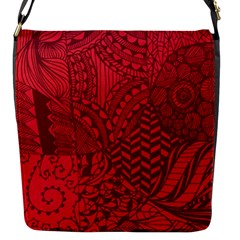 Deep Red Background Abstract Flap Messenger Bag (s)