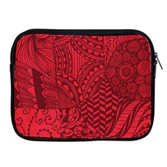 Deep Red Background Abstract Apple iPad 2/3/4 Zipper Cases
