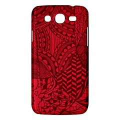 Deep Red Background Abstract Samsung Galaxy Mega 5.8 I9152 Hardshell Case