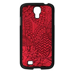 Deep Red Background Abstract Samsung Galaxy S4 I9500/ I9505 Case (Black)