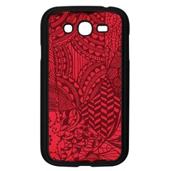 Deep Red Background Abstract Samsung Galaxy Grand DUOS I9082 Case (Black)
