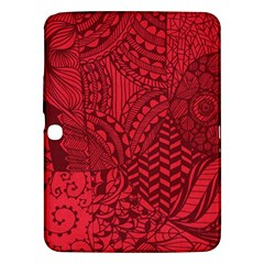 Deep Red Background Abstract Samsung Galaxy Tab 3 (10.1 ) P5200 Hardshell Case