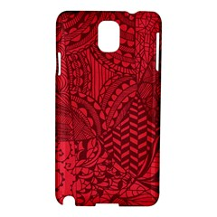 Deep Red Background Abstract Samsung Galaxy Note 3 N9005 Hardshell Case