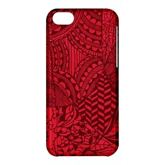 Deep Red Background Abstract Apple iPhone 5C Hardshell Case