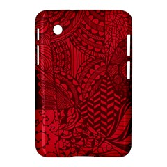 Deep Red Background Abstract Samsung Galaxy Tab 2 (7 ) P3100 Hardshell Case