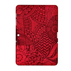 Deep Red Background Abstract Samsung Galaxy Tab 2 (10.1 ) P5100 Hardshell Case